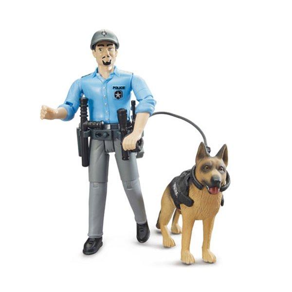 ブルーダー 白人警察官&警察犬 車のおもちゃ 砂場 ダンプカー トラック 子供 誕生日プレゼント