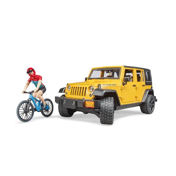 ブルーダー Jeep Rubicon&マウンテンバイク(フィギュア付き) 車のおもちゃ 砂場 ダンプカー トラック 子供 誕生日プレゼント