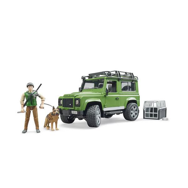 ブルーダー Land Rover Def.ワゴン&フォレスター(犬付き) 車のおもちゃ 砂場 ダンプカー トラック 子供 誕生日プレゼント