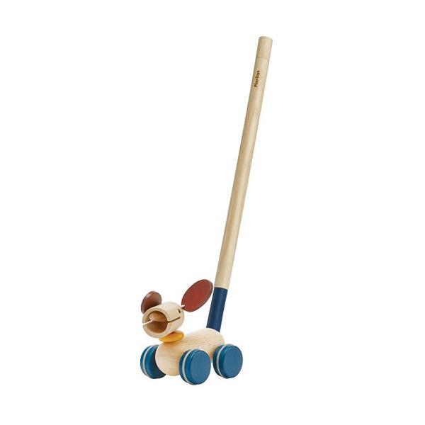 プラントイ プル&プッシュパピー 木のおもちゃ 木製 ベビー 男の子 男 女の子
