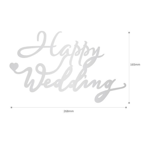 アクリルサイン プレート Happy Wedding ハッピーウェディング 厚み2mm|nidek|05