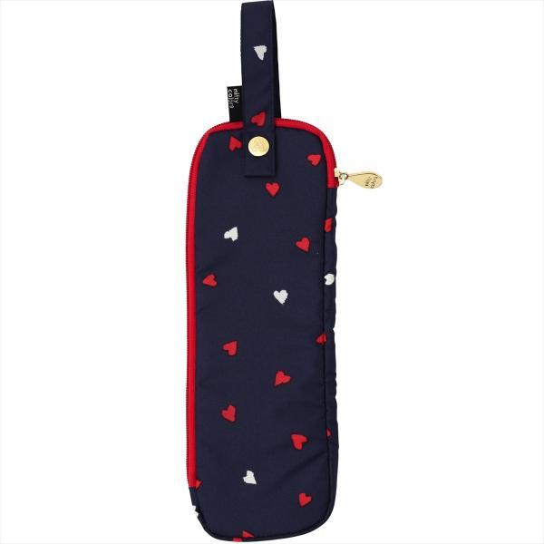 【公式】ニフティカラーズ  傘ケース ハート 折たたみ傘 かばん 装着 便利 人気 吸水 防水 ミニ傘 コンパクト ギフト プレゼント 紺|niftycolors