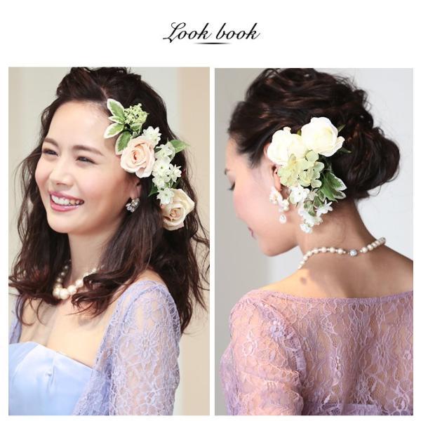 日本製 ハンドメイド コサージュ 髪飾り ヘアアクセサリー フォーマル 手作り ヘアアクセ 髪飾り 花 リボン ヘッドドレス