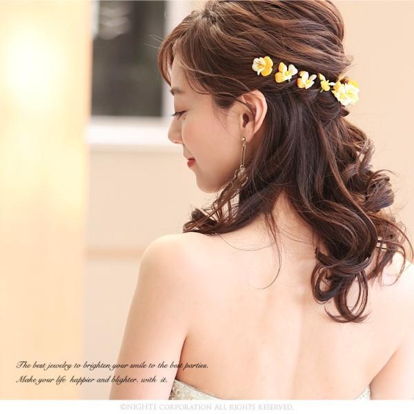 卒業式 髪型 髪飾り パンジー パール Uピン 浴衣 和装  結婚式 パーティー 髪 飾り コサージュ 手作り 日本製 ヘアアクセサリー 花