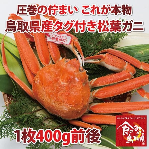 【ご予約】タグ付き松葉ガニ(茹で)小サイズ1枚400g前後