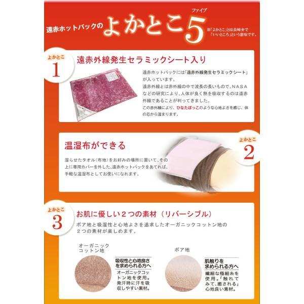 冷え 遠赤外線 /遠赤ホットパック&専用カバー セット|nihonriko2|09