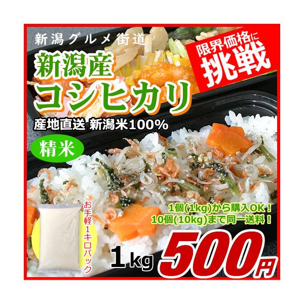 コシヒカリ 1キロ 新潟米 1kg  令和2年産 お米 新潟産 産地直送 米 コメ