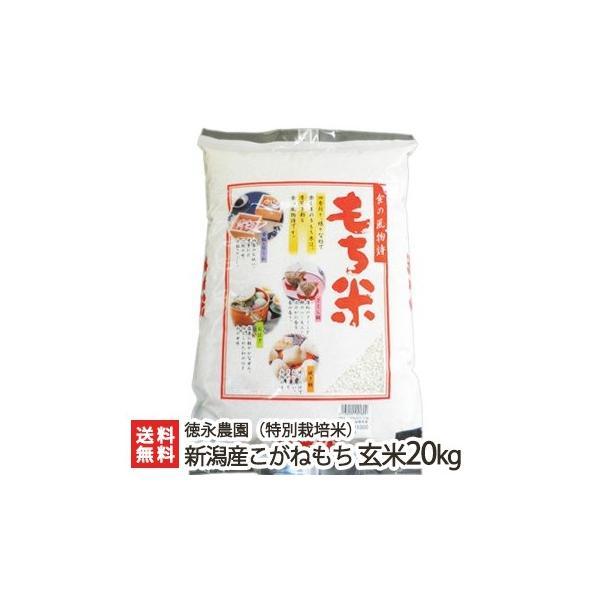 令和2年度米 新潟産 特別栽培米 こがねもち 玄米20kg(10kg×2)徳永農園 もち米/御歳暮にも!ギフトにも!/のし無料/送料無料