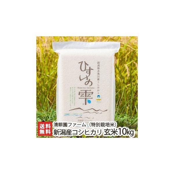 令和2年度米 新潟 糸魚川産コシヒカリ「ひすいの雫」(特別栽培米)玄米 10kg(5kg×2)/御歳暮にも!ギフトにも!/のし無料/送料無料