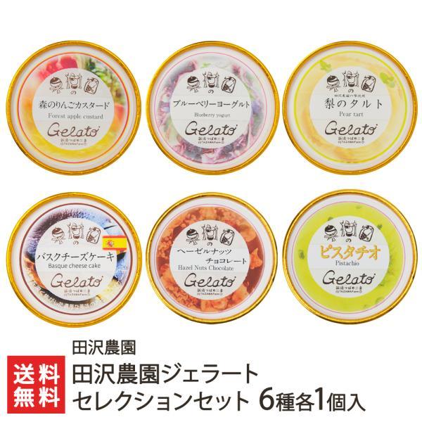 田沢農園ジェラート定番6種各1個入(キャラメル、ティラミス、黒ごま、きな粉、ヘーゼルナッツチョコレート、ピスタチオ)/お中元ギフト/のし無料/送料無料
