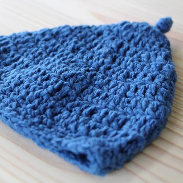 【Ainomi】本建正藍染職人がオーガニックコットンを藍で染め、手芸職人が手編み施した子供用ニット帽子|niimo|05