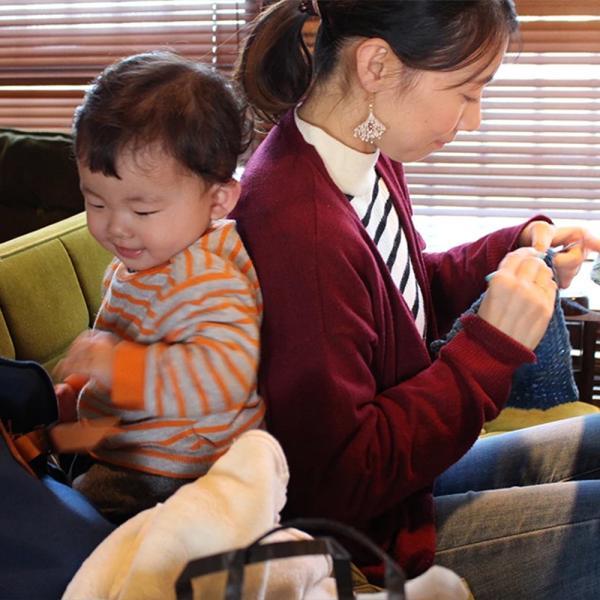 【Ainomi】本建正藍染職人がオーガニックコットンを藍で染め、手芸職人が手編み施した子供用ニット帽子|niimo|07
