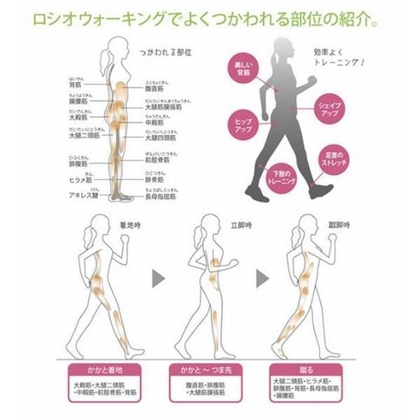 かかとのない健康シューズ ロシオ M101 ピンク 23.5cm|nijiiromarket|05