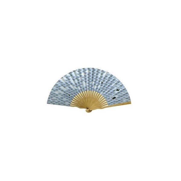 komon+ 和紙扇子70型25間〔3本セット〕青海波クジラ nijiiromarket 02
