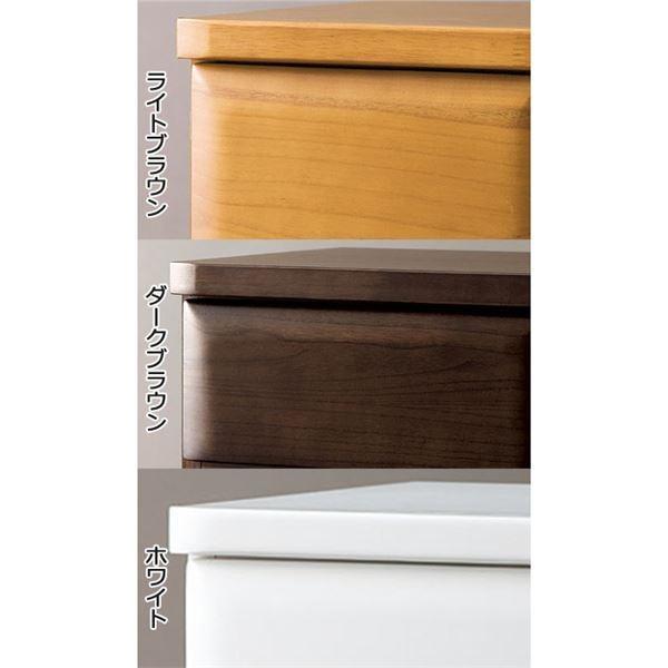 天然木多サイズチェスト/収納棚 〔5段/幅75cm〕 ダークブラウン 木製 鍵付き|nijiiromarket|04