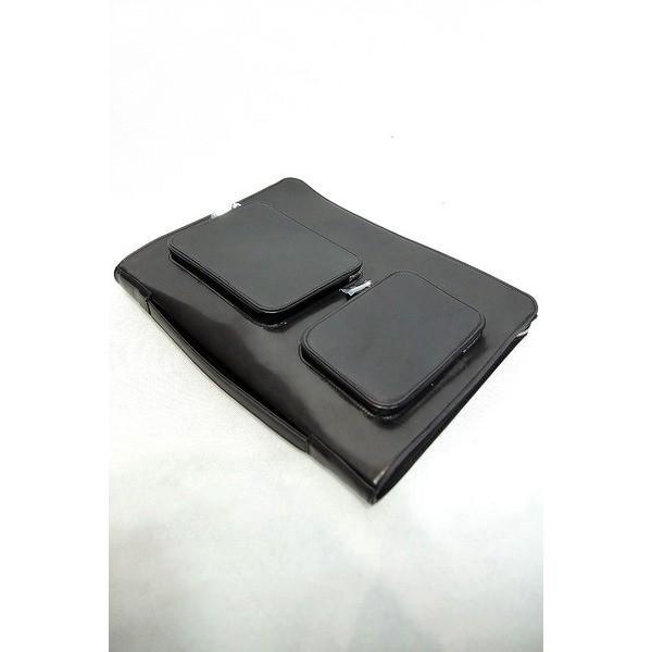 aniary ニューアイディアルレザークラッチバッグ BLACK