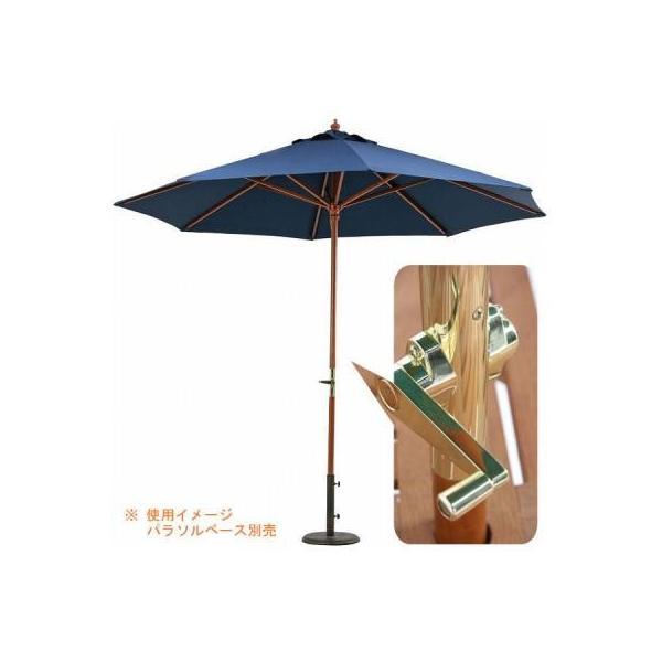 ガーデン 木製パラソル 270cm グリーン/アイボリー/ネイビー/エンジ【送料無料】|nijiiromarket|05