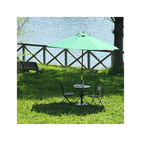 ガーデン 木製パラソル 270cm グリーン/アイボリー/ネイビー/エンジ【送料無料】|nijiiromarket|06
