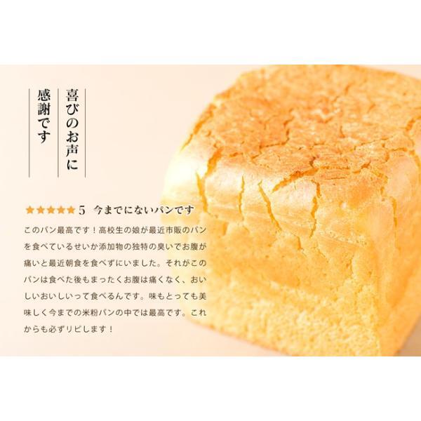 グルテンフリー パン 無添加 天然酵母  米粉パン 米粉100% 食パン nijinoho-store 05