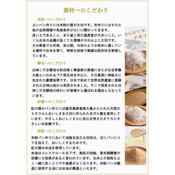 グルテンフリー パン 無添加 天然酵母  米粉パン 米粉100% 食パン nijinoho-store 09