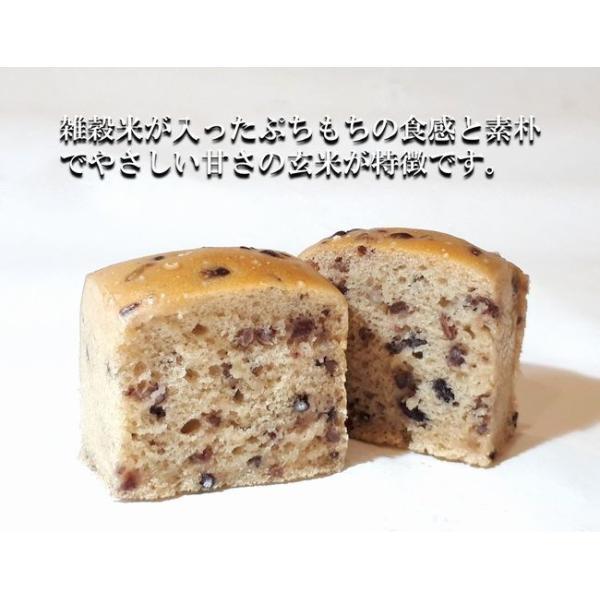 グルテンフリー パン 米粉パン プチ玄米パンセット(18雑穀米入り)(3個入り)|nijinoho-store|02