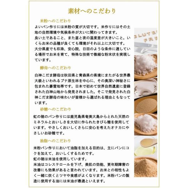 グルテンフリー パン 米粉パン プチ玄米パンセット(18雑穀米入り)(3個入り)|nijinoho-store|10
