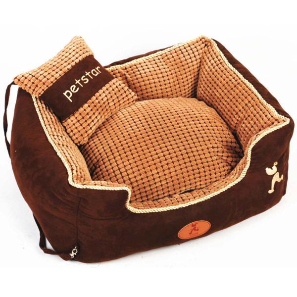 ペットベッド 冬 大型犬 犬 猫 コーデュロイ スクエア 角型 XLサイズ ブラウン 大型宅配便送料無料/代引不可|nikkashop|09