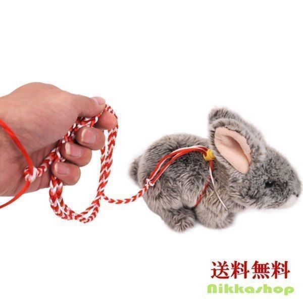 |小動物用 ハーネスリードセット コットンロープ リード 全長2m 牽引帯 調節可能 手編み縄 ハム…