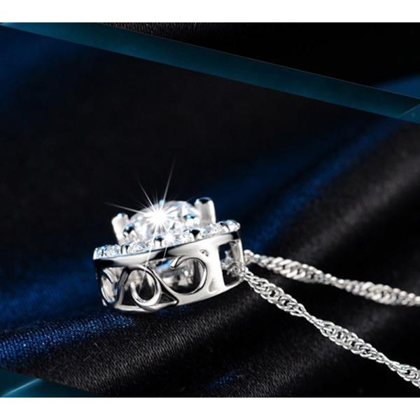 タイムセール レディース ネックレス ペンダント  三日月  AAA 一粒 CZダイヤモンド シルバー 星と月 チェーン スワロフスキー 風 リング|niko-mart|04