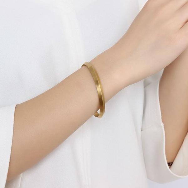 ブレスレット バングル 腕輪 ゴールド シルバー ブラック チタン シンプルデザイン メンズ レディース おしゃれ ポイント消化 アクセサリー