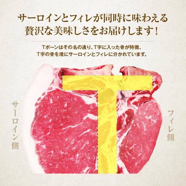 本場US産 Tボーンステーキ 1枚 400g以上 約2-3人前 アメリカ Tボーン ステーキ 1ポンド 牛肉 焼き肉  焼肉  BBQ  バーベキュー|niku-donya|05