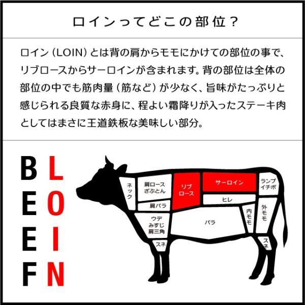 国産牛霜降り ロイン ステーキ 肉 200g 牛肉 リブロース サーロイン|niku-donya|03