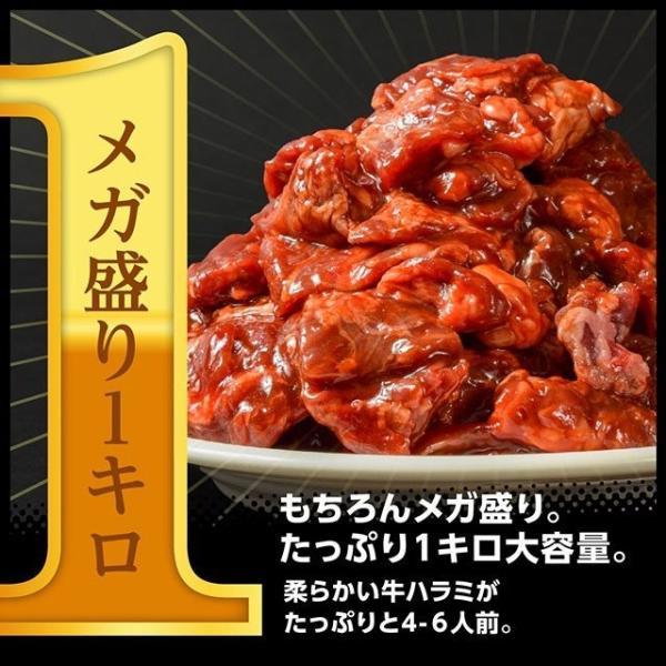 送料無料 500g×2パック!特製醤油甘ダレ仕込!やわらかサイコロ 牛ハラミ メガ盛り1キロ 便利な小分け包装 食品 牛肉 焼き肉 バーベキュー bbq|niku-donya|07