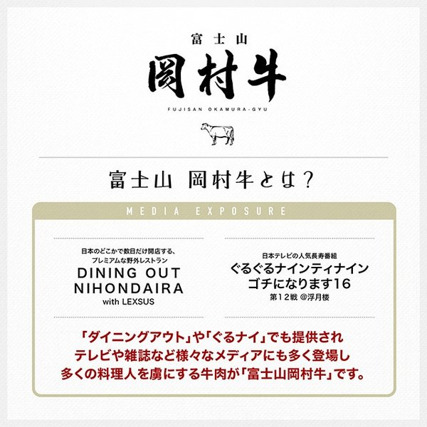 とろける脂が美味しい 富士山岡村牛生ハム 100g|niku-donya|02