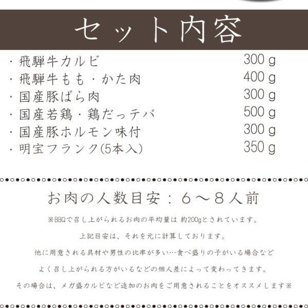バーベキュー BBQ 肉 セット 焼肉 焼き肉 飛騨牛入2.1kg 5〜8人分 大人数 人気 nikunohiguchi-yafuu 02