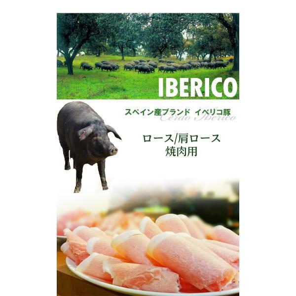 ギフト 肉 イベリコ豚 焼肉セット ロース+かたロース各300g 計600g 化粧箱入 ブランド豚 スペイン産 豚肉 送料無料|nikunohiguchi-yafuu|04