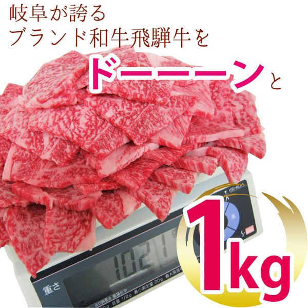牛肉 焼肉 飛騨牛 メガ盛カルビ1kg 500g×2p 約3〜4人 大容量 肉 バーベキューセット 和牛 国産 焼き肉 送料無|nikunohiguchi-yafuu|02