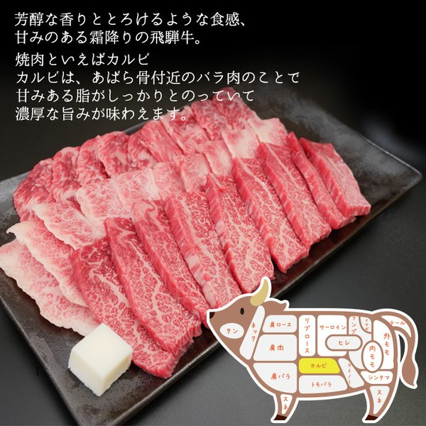 牛肉 焼肉 飛騨牛 メガ盛カルビ1kg 500g×2p 約3〜4人 大容量 肉 バーベキューセット 和牛 国産 焼き肉 送料無|nikunohiguchi-yafuu|03