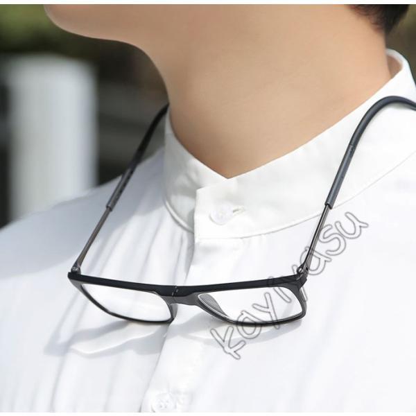 老眼鏡 リーディンググラス 滑り止め付き 軽量 シニアグラス おしゃれ 首かけ老眼鏡 +1.0 +1.5 +2.0 +2.5 +3.0 +3.5 +4.0 男女兼用|niltutyuu|12
