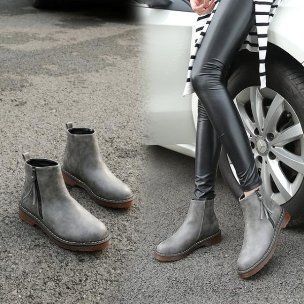 裏起毛シューズ ブーティ レディースブーツ ショートブーツ ムートンブーツ レディースエンジニアブーツ サイドゴアブーツ 美脚ブーツ ヒール 疲れない