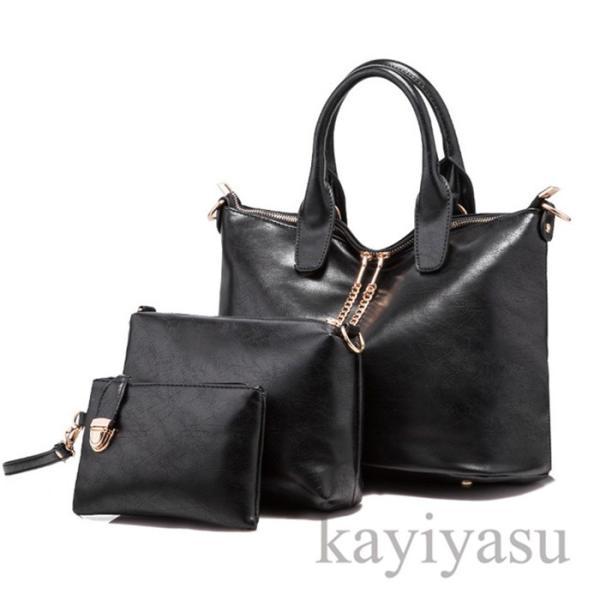 ハンドバッグ レディース ショルダーバッグ トートバッグ 鞄 かばん 4点セット 親子バッグ 女性用バッグ PUレザー 通勤 2way 大容量