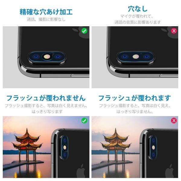 iPhoneXS iPhone XSMax iPhone X カメラレンズ 保護 ガラスフィルム 4枚セット Nimaso nimaso 04