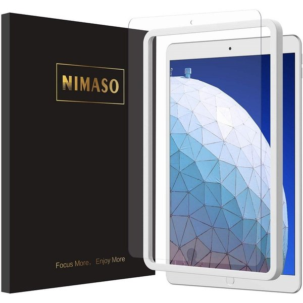 iPad Pro 10.5/Air 2019 ガラスフィルム 強化ガラス 液晶保護フィルム  防爆裂 スクラッチ防止 気泡ゼロ 指紋防止対応 硬度9H (iPad Pro 10.5, 透明) nimaso nimaso
