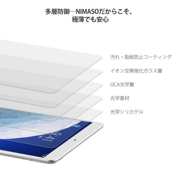 iPad Pro 10.5/Air 2019 ガラスフィルム 強化ガラス 液晶保護フィルム  防爆裂 スクラッチ防止 気泡ゼロ 指紋防止対応 硬度9H (iPad Pro 10.5, 透明) nimaso nimaso 02