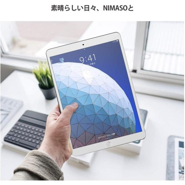 iPad Pro 10.5/Air 2019 ガラスフィルム 強化ガラス 液晶保護フィルム  防爆裂 スクラッチ防止 気泡ゼロ 指紋防止対応 硬度9H (iPad Pro 10.5, 透明) nimaso nimaso 07
