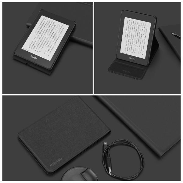Nimaso Kindle Paperwhite ケース 全面保護 開閉式 スタンド式 オートスリープ機能 傷つけ防止 (2018秋Newモデル) 用 nimaso 07