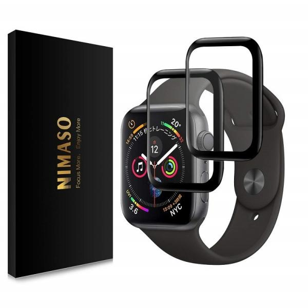 Nimaso Apple Watch フィルム Series4 40mm/44mm 用全面保護フィルム【2枚組】擦り傷防止/爆裂防止/指紋防止 アップルウォッチ フィルム
