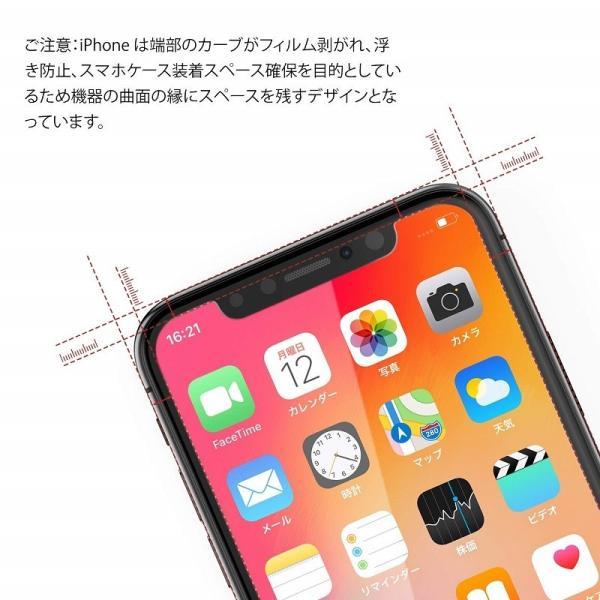 iPhone xr ガラスフィルム iPhone XsMax ガラスフィルム iPhone Xs iPhone X ガラスフィルム  3枚セッと 旭硝子製3D Touch対応/業界最高硬度9H/高透過率 Nimaso|nimaso|04