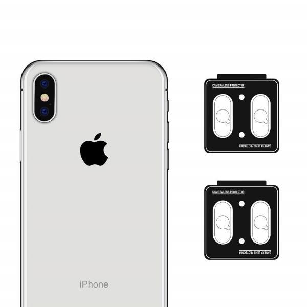 iPhoneX  レンズ保護カメラフィルム  4セッド  ガイド枠付き/貼り付け簡単/超薄型/高透過率/擦り傷防止/自動吸着 Nimaso|nimaso