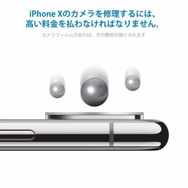 iPhoneX  レンズ保護カメラフィルム  4セッド  ガイド枠付き/貼り付け簡単/超薄型/高透過率/擦り傷防止/自動吸着 Nimaso|nimaso|02